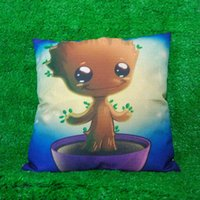 Wholesale Decorative Plain Pillows - Guardians of the Galaxy We Are Groot Pillow Case Cushion cover Linen Cotton Throw Pillowcases sofa Bed Car Decorative Pillowcover