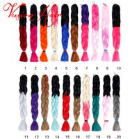 Barato Tranças De Cabelo-Hot Sale Ombre Synthetic Braiding Hair Crochet Braids Senegalest Twist Hair Extensions Beleza Cor Kanekalon Braiding Hair Jumbo Braid