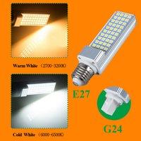 Wholesale E27 Corn Led Bulb 13w - 2017 New LED Bulbs 5W 7W 9W 11W 13W E27 G24 LED Corn Bulb Lamp Light SMD 5050 Spotlight 180 Degree AC85-265V Horizontal Plug Light