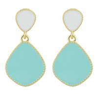 Wholesale Crystal Blue Candy - Brincos De Festa Candy Color Enamel Gold Color Alloy Ethic Dangle Earrings New Fashion Jewelry for Women