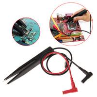 ingrosso penna conta-SMD Inductor Tester Clip Sonde Pinzette per resistore Multimetro Condensatore Meter Sonda clip per componenti SMD Misura condensatore