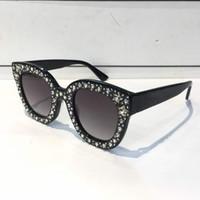 óculos retangulares venda por atacado-0116 Óculos De Sol Das Mulheres de Luxo Designer de Marca de Óculos de Olhos de Gato Estilo Verão Retângulo Quadro Completo de Proteção UV de Alta Qualidade Vem Com o Caso