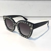 Wholesale women sunglasses designer cat resale online - 0116 Sunglasses Luxury Women Brand Designer Cat Eyes Glasses Summer Style Rectangle Full Frame Top Quality UV Protection Come With Case