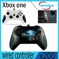 joystick xbox blanco al por mayor-200pcs Color Blanco Gamepad Joystick + Cable para Windows Xbox uno USB Cableado controlador para Microsoft Xbox One ControllerYX-OEN-03