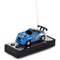 Wholesale- 1:63 Coke Can Mini rc voiture voiture camion vitesse Radio Télécommande Micro Racing Véhicule électrique de contrôle électrique Jouet électrique