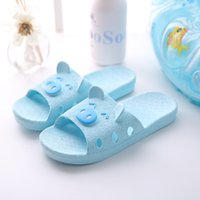 Wholesale Girl Bow Flats - GU01(1-9)children slippers girls slippers cute cartoon charms summer kids slippers casual non-slip