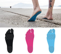 Wholesale Feet Protection Shoes - Kids Nakefit Adhesive Shoes Waterproof Foot Pads Stick On Soles Flexible Feet Protection Sticker Soles Shoes For Beach Pool