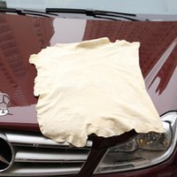 Wholesale Shammy Cloth - Free Shipping Drying Cleaning Towel Natural Genuine Leather Chamois Shammy Sponge cloth Sheepskin Absorbent Towel Car Washing