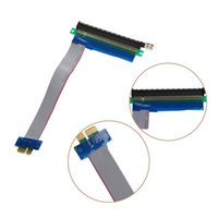 pci e 1x riser al por mayor-Al por mayor-PCIe PCI Express 1x a 16x Extender Riser FFC PCI-E 1x-16x Piezas de componentes de computadora de cable plano flexible a estrenar