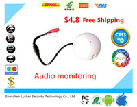 Lucker Security Forma de golf dispositivos de audio CCTV Micrófono de audio Dispositivo de alta sensibilidad de 12V DC Monitor de sonido