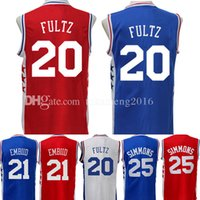 Wholesale Embroidery Jerseys - 20 Markelle Fultz Basketball Jersey Men's 2017 New Arrival No.1 Draft Piack Embroidery 21 Joel Ben Embiid Simmons 25 Jerseys