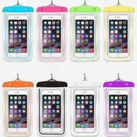 Wholesale Iphone Border Cases - cell phone case Waterproof mobile phone swimming bag Pounch For iphone sumsung xiaomi luminous border universal