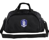 Wholesale Korea Luggage - Korea duffel bag Soccer strong team tote Emblem tiger backpack Football luggage Sport shoulder duffle Outdoor sling pack