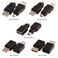 Wholesale usb type b female cable for sale - Group buy USB A Male to Mini USB B Type Pin Female Data Connector Mini USB Female to Female Adapter Converter for Desktop Computer PC