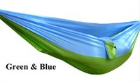 Wholesale Fabric Double Hammock - Wholesale- 5 Colors Hammock Double Portable Parachute Nylon Fabric Hammock for Travel Camping Outdoor Large Garden Hang Swing 270x140CM