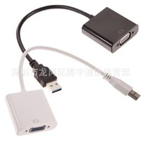 Wholesale External Video Adapter Usb Vga - Free Shipping 2016 New High Quality 1PC USB 3.0 to VGA Video Display External Cable Adapter for Win 7 8