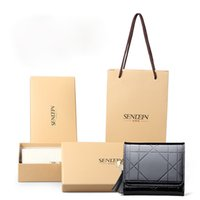 Wholesale Fresh Retail - 1pc Designer clutch Wallet Short Zipper Wallets black Leather Wallet Tide Purse Lady Leather Wallet With Retail box Free Shipping