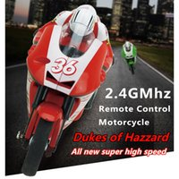 Wholesale Mini Racing Motorcycle - Wholesale- Hot Selling 1PCS New 2 Color 3 Channels High Speed Mini Remote Control Motorcycle Racing Model with Gyro Toy