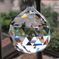 ingrosso sfere di perline-Nuovo Meraviglioso Appeso Chiaro Sfera Di Cristallo Sfera Prisma Pendente Del Distanziatore Perline Per La Cerimonia Nuziale In Vetro Lampada Decorazione Lampadario