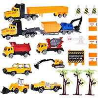 Wholesale Tow Truck Toys - Vehicles Trucks Playsets for Boys Tough Construction Toy Set for Kids with Diggers, Mixing Truck, Construction Truck, Helicopter, Tow Truck,