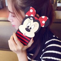 Wholesale Mouse Silicon Case - For iPhone 7 Cute Cartoon 3D Mickey Minnie Lover Cases silicon Mouse Soft Silicone Back Cover Shell for iPhone 7 6S plus free shipping