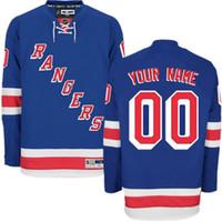 Wholesale Kids Size Hockey Jerseys - Customized Mens Womens Youth New York Rangers Custom Any Name Any Number Ice Hockey Jerseys Kids Stitched Size S-4XL
