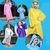 New Easy Carried Rain Coat Casaco de vento EVA Women's Hooded Raincoat Waterproof Transparente Poncho Hiking B0487