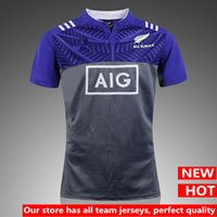 Hot ventes Nouvelle-Zélande All Blacks 2017 Rugby Shirt Top Thaïlande qualité Super Rugby All Blacks chemises maison et à l'extérieur