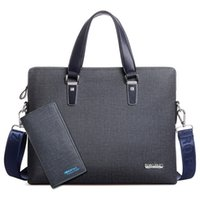Wholesale Document Handbag - Men's PU leather Briefcase Fashion Handbags for Man Quality Sacoche Homme Marque Male Bag for A4 Documents Male Tote