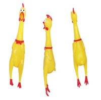 Wholesale Rubber Chicken Small - Yellow Chicken Shape Pet Toy Dog Chew Elastic Toys Soft Plastic Pet Cat Sound Educational Toys Mini Rubber Chew For Small Middle Pets 20PCS