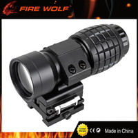 Wholesale flip side - Tactical 3X Magnifier Rifle Scope with Flip to Side Mount Fit Aimpoint Scope Sight for Hunting