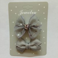 Wholesale Hairclip Hairpin - bowknot baby girls kids hair clips pin bows barrette hairpin accessories for child hair ornaments hairclip headdress hairgrips