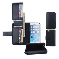 Wholesale Stand Holder Pouch Case - 7 Card Wallet Case For Iphone 7 6 6s Plus Samsung S6 edge LG G4 G5 Google 6 PU Leather Stand Case With Card Holder OPPBAG