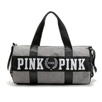 Wholesale Shoulder Cooling - Wholesale Women Handbags New Arrival Pink Large Capacity Travel Duffle Striped Waterproof Beach Bag Shoulder Cool Bag