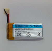 Wholesale 10pcs x iPod nano6 battery nano nano battery A1366 battery