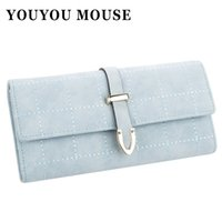 YOUYOU MOUSE Fashion New Style Wallet Long Multi-Functional 3 Fold Women's Wallet Retro Scrub Sac à main en cuir PU Embrayage