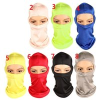 Masks sport face sunscreen - Balaclava Mask Windproof Full Face Neck Guard Masks Ninja Headgear CS Hat Riding Hiking Outdoor Sports Bicycle Cycling Masks sunscreen wigs
