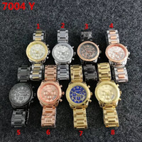 Wholesale Gold Logo Watch - NEW MK logo classic ladies luxury watches quartz watches casual fashion watch Relogio Masculino free ship