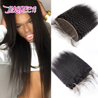 Wholesale Beauty Queen Human Hair - Mongolian Unprocessed Kinky Straight Lace Frontal Ear To Ear Closure Queen Beauty Virgin Human Hair Natural Color