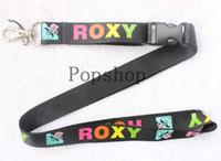 cuello para teléfonos celulares al por mayor-¡Envío gratis! Roxy Lanyard Llavero Llavero ID Badge soporte para teléfono celular Correa para el cuello.