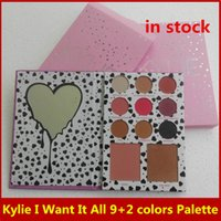 Wholesale Newest Kylie Jenner The Birthday Collectiont I Want It All Eyeshadow Pallete colors eyeshadow blush makeup set
