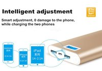 Wholesale Super Slim Mobile Phones - Super Slim Power Bank 2017 Luxury Matte 20000mah Portable Charger External Battery 20000 mah Mobile Phone Backup Powers