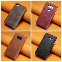 Wholesale Magnetic Leather Flip Hard Case - 2 in 1 Leather Wallet Removable Card Stand Pouches Detachable Hard Case For Galaxy S8 Plus (A7 A5 A3 J7 J5 J3)2017 Flip Cover Magnetic Card