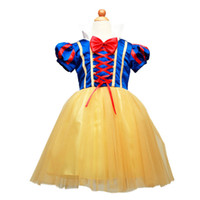 Wholesale Snow White Clothing Girls - Summer Girls Snow White Princess Dresses Kids Girls Halloween Party Christmas Cosplay Dresses Costume Children Girl Clothing