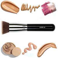 Wholesale Black Top Tools - SGMF80 Makeup Brushes Flat Kabuki Brush Foundation Flat Top Kabuki Foundation Cream Blusher Powder Blending Brushes Cosmetic Makeup Tools