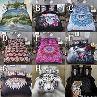 Wholesale Comforter Sets 3d Printing - 2017 Cheap 3D Bedding Sets 4pcs Pattern Design Printed Comforter Sets Queen Size Duvet Cover Bed Sheet free shipping