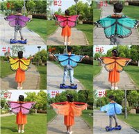 Wholesale wholesale butterfly scarves - Baby Kids Wraps Butterfly Chiffon Wraps Scarves Christmas Cosplay Clothing 118 * 48 cm 20 p l