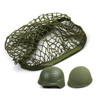 Active paintball cloth - Outdoor Airsoft Paintball Shooting Tactical Helmet Accessory Mesh Cloth Helmet Cover for M1 M35 M88 G80 Helmet