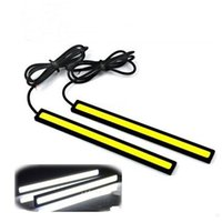 Wholesale Daytime Running Lights Led Strip - COB Car Light LED Daytime Running 14CM 17CM COB LED Universal Ultra-thin LED Strip Car Daytime Running Light DRL Warning Fog Decorative Lamp