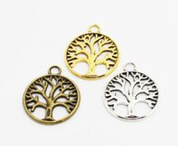 Wholesale Accessory Charm Supplier - life of tree charms vintage silver gold bronze plants diy fashion jewelry accessories suppliers for jewelry 24*20mm